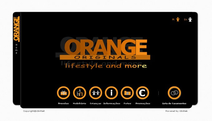 Website da Orange Originals