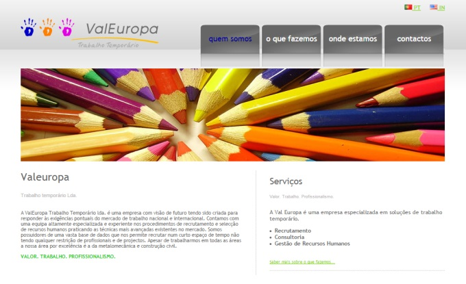 Website da Valeuropa